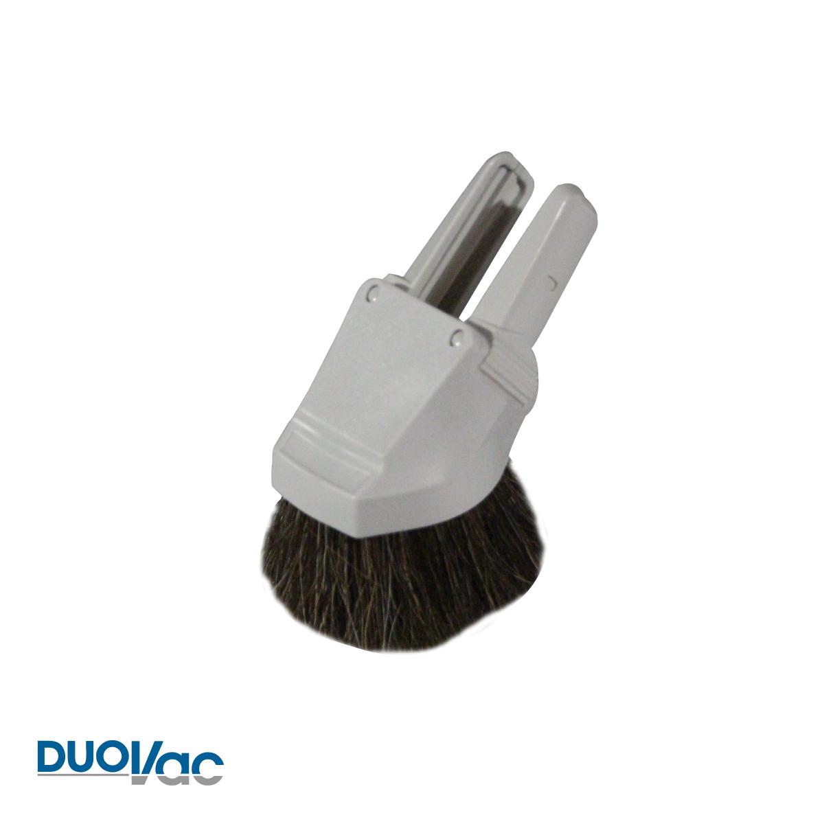 Brosse combo duovac a epoussetage capitonnage gris en crin acc 56 gy 01